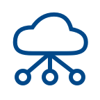 IoT PaaS Services Blue Icon